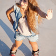 Girl on roller skates - Photo