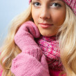 Woman wearing knitwear — Stock Photo