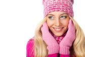 白の女性の笑顔 — ストック写真