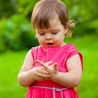 Little girl counting her fingers — Stock Photo #15598185