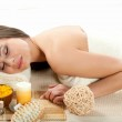 Woman getting treatment in a spa — Stock Photo #16322667