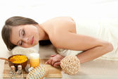 Woman getting treatment in a spa — Stock Photo