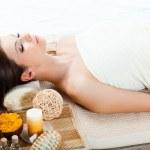 Woman receiving spa procedures — Stock Photo