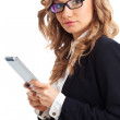 Businesswoman holding tablet — Stock Photo #21557061