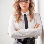 Closeup seriously businesswoman portrait — Stock Photo #21557997