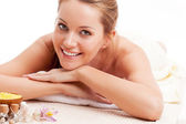 Beautiful woman in spa salon — Stock Photo