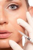 Concepto de belleza con inyección jeringa — Foto de Stock