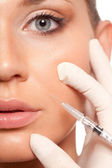 Syringe injection beauty concept — ストック写真