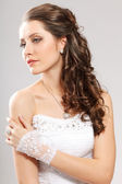 Brunette bride portrait — Stock Photo