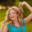 Funny girl portrait — Stockfoto