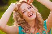 Funny girl portrait — Stock Photo