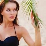 Woman wearing bikini closeup portrait — Stock Photo #30096381