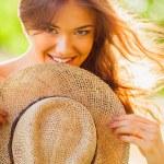 Happy girl closeup portrait — Stock Photo