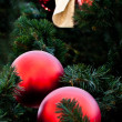 Fur-tree with red balls — Stock Photo #3348273
