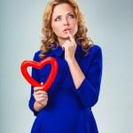 Woman holding heart — Stock Photo
