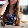Woman talking by phone — Stock Photo #7233799