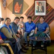 Bolivian family — Stock Photo