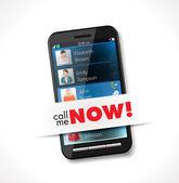 мобильный телефон - позвоните мне сейчас — Cтоковый вектор