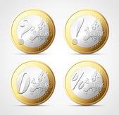 Euro signs — Stock Vector