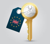 Euro key — Stock Vector