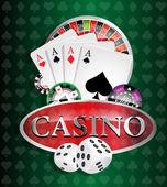 Casino - poker winner — Stock Vector