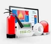 Access - Fire Alarm — Stock Vector