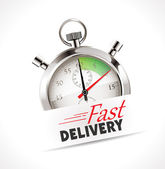Stopwatch - Fast delivery — Stock Vector