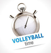 Stopwatch - Sport Volleyball — Stock Vector