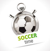 Stopwatch - Sport Soccer — Stock Vector