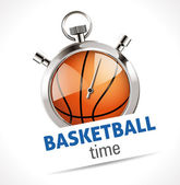 Stopwatch - Sport Basketball — Stock Vector