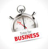 Stopwatch - time for business — Stok Vektör