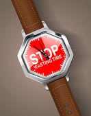 Stop wasting time — Vector de stock