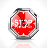 Stopwatch - Stop wasting time — Stock Vector