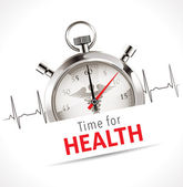 Stopwatch - Time for health — Vetorial Stock