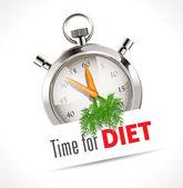 Stopwatch - Time for diet — Vecteur
