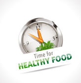 Stopwatch - Time for healthy food — 图库矢量图片