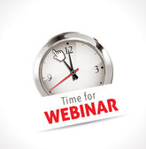 Stopwatch - Time for webinar — 图库矢量图片