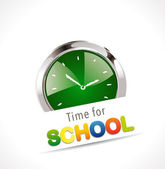 Stopwatch - Time for school — Vector de stock
