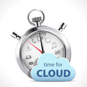 Stopwatch - time for cloud — Stock Vector