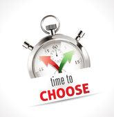 Stopwatch - time to choose — Stock Vector