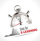 Time for e-learning — Stock Vector