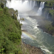 Iguassu falls Brazilian side — Stock Photo