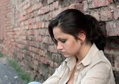 Young woman in despair — Stock Photo