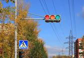 Error of traffic light — Stock Photo