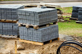 Construction cobble-stones — Stock Photo