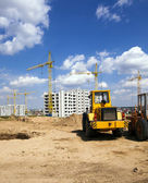 Construction of buildings — Stock Photo