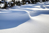 Big snowdrifts — Stock Photo