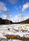 Lines electric — Stock Photo
