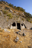Ruins of the fortress located on the mountain — Stock Photo