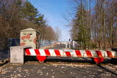 Barricada de fronteira — Foto Stock